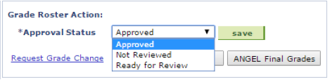 LionPATH approved selected in dropdown